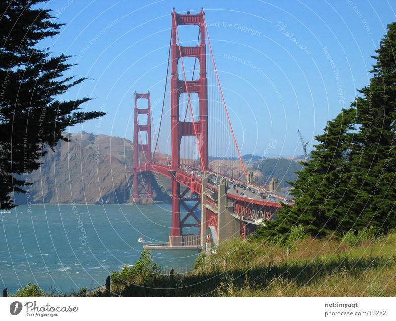 Golden Gate Bridge rot Brücke USA Wahrzeichen San Francisco Kalifornien Golden Gate Bridge