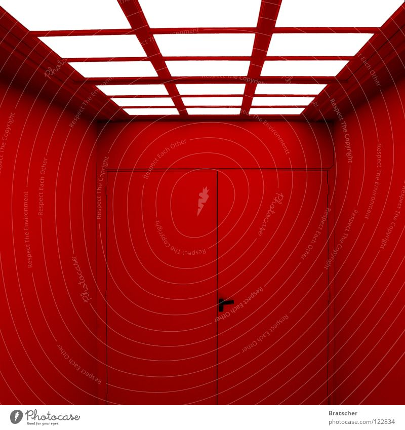 Für die Bösen. rot hell Tür Angst gefährlich geheimnisvoll Tor Club Rauschmittel Flamme Erwartung Fantasygeschichte Hölle Teufel aufmachen Pornographie