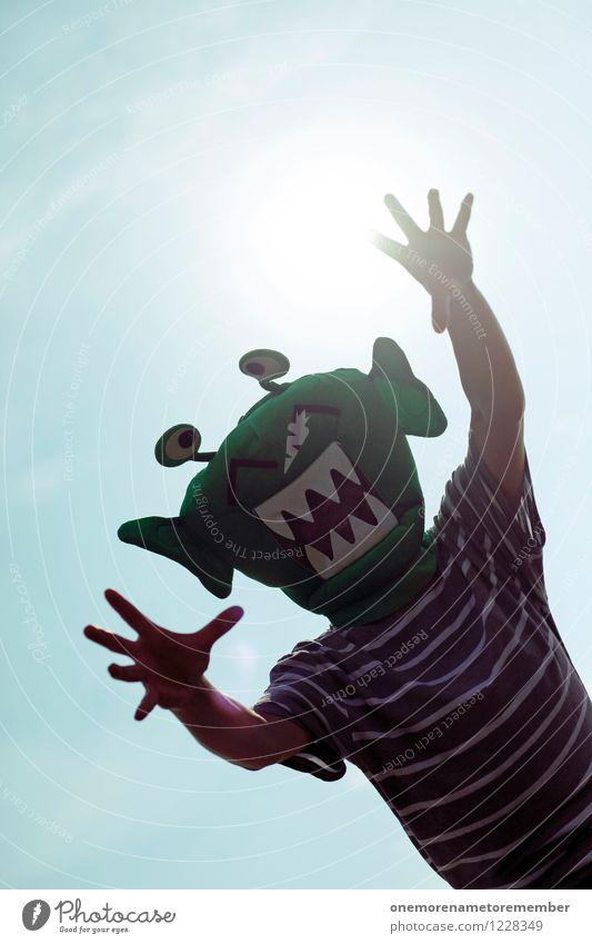 URG! Stadt grün Sonne Hand Freude Kunst Stimmung ästhetisch Kommunizieren Zukunft Abenteuer Zähne Maske Stress Konflikt & Streit schreien