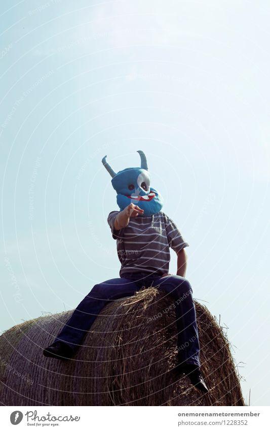 I WANT YOU! Kunst Kunstwerk ästhetisch Außerirdischer außerirdisch außergewöhnlich Monster Ungeheuer ungeheuerlich blau zeigen wählen sitzen verrückt Tippen