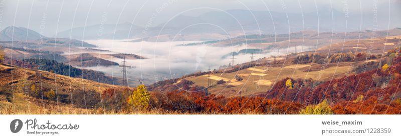 Karpatenpanorama Himmel Natur schön Wasser Baum Landschaft Wald Berge u. Gebirge Herbst Wege & Pfade Holz Stein Sand Metall Zufriedenheit Wetter