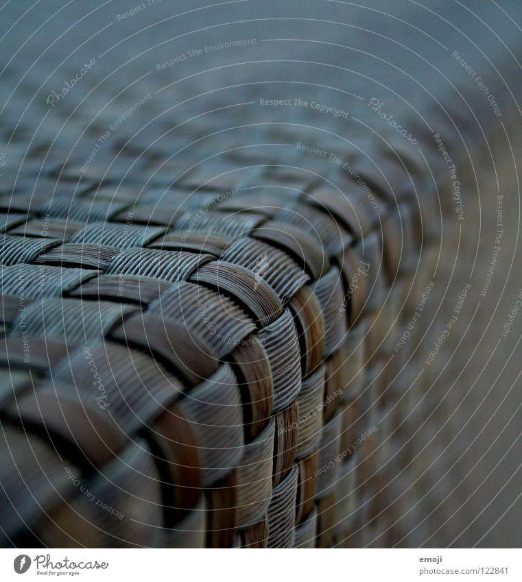 musterbraunblau Muster kariert Tiefenschärfe nah Makroaufnahme Unschärfe kultig Kultur Kunst Stoff Bast durcheinander Zusammensein Verlauf Ordnung Nahaufnahme