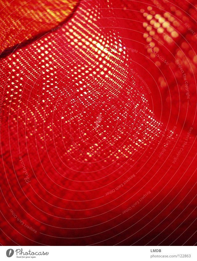 roter Stoff schwarz gelb orange Wellen Bekleidung Streifen Falte durchsichtig Am Rand Nähgarn Schal Textilien Schlaufe gewebt
