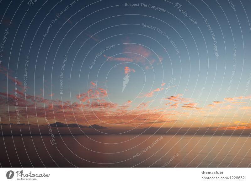 Horizont Himmel Natur Ferien & Urlaub & Reisen Sommer Wasser Sonne Meer Wolken Ferne Küste Freiheit Stimmung Erde Luft Insel
