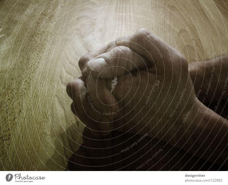 erinnern Tisch Hand Gebet danken dankbar danke schön Gedanke Souvenir Gedächtnis Erinnerung vergangen Vergangenheit Vergänglichkeit temporär Unendlichkeit