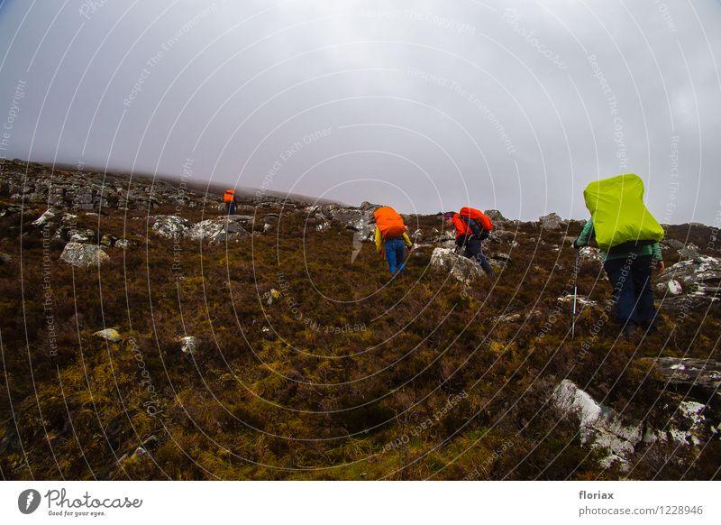 Aufstieg in die Highlands 2/2 Ferien & Urlaub & Reisen Tourismus Ausflug Abenteuer Ferne Freiheit Expedition Berge u. Gebirge wandern Sport Klettern Bergsteigen