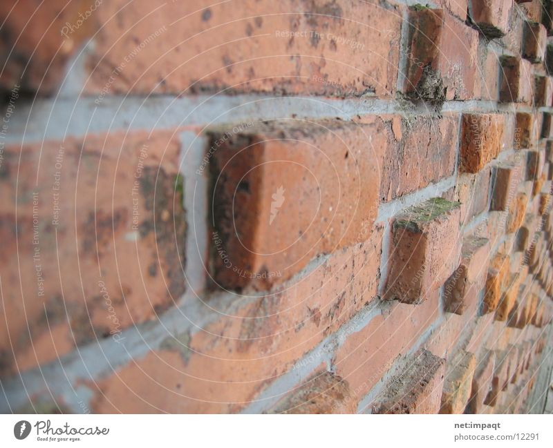 The Wall Mauer Wand Backstein rot Fuge Architektur kaminrot Stein