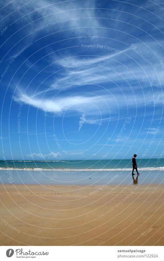 Solitude Einsamkeit Himmel Meer Wolken Mensch Solitude. solidão mar ocean oceano céu nuvens sky clouds