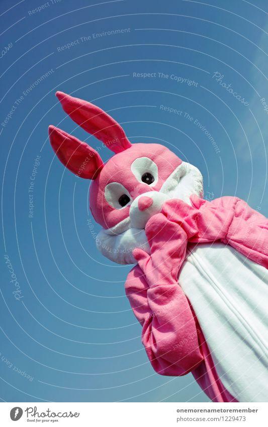 upsi! Kunst Kunstwerk ästhetisch Hase & Kaninchen Hasenohren Hasenjagd Hasenzahn Hasenpfote Kostüm rosa Freude Karnevalskostüm Tier Ups gestikulieren Angst