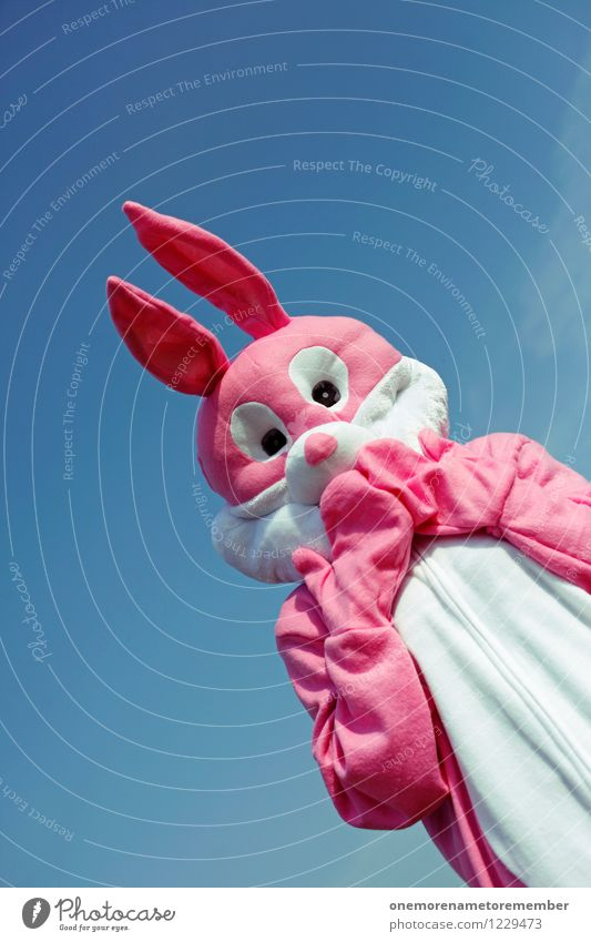 upsi! Sommer Freude Tier lustig Kunst rosa Angst ästhetisch Symbole & Metaphern Zukunftsangst Karneval Hase & Kaninchen Kunstwerk Kostüm Karnevalskostüm
