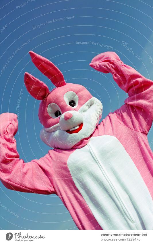 Power Bunny Kunst Kunstwerk ästhetisch Hase & Kaninchen Hasenohren Hasenjagd Hasenpfote rosa Karnevalskostüm Freude spaßig Spaßvogel Spaßgesellschaft lustig