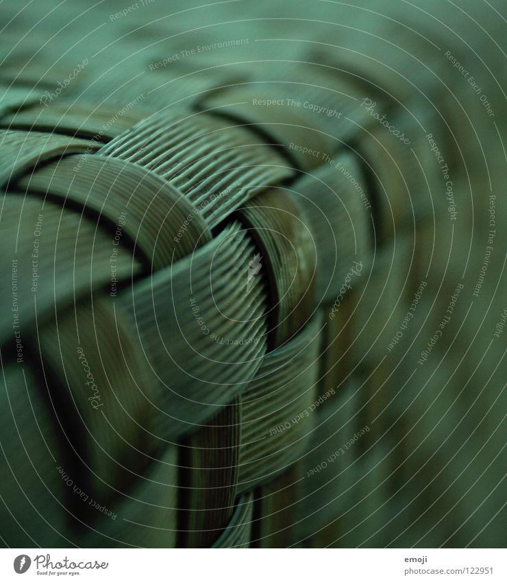 mustergrün Muster kariert Tiefenschärfe nah Makroaufnahme Unschärfe kultig Kultur Kunst Stoff Bast durcheinander Zusammensein Verlauf Ordnung Nahaufnahme obskur