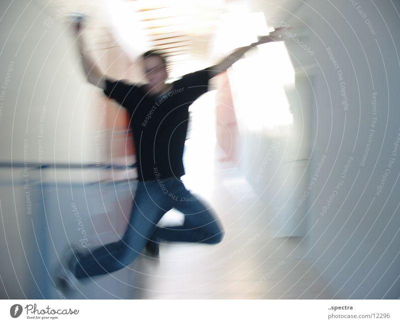 Luftsprung Mensch Freude Stunt