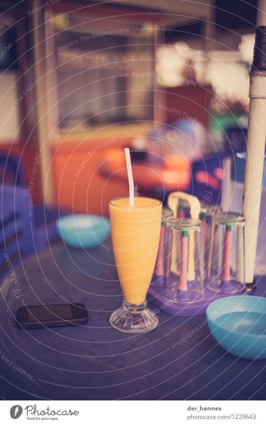gelbsaft Lebensmittel Getränk Erfrischungsgetränk Saft Mango Diät trinken exotisch Gesundheit Farbfoto mehrfarbig Nahaufnahme Menschenleer Textfreiraum oben
