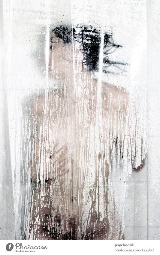 Acts 1 Bad Akt Dusche (Installation) Teilakt Unter der Dusche (Aktivität) Duschvorhang Weiblicher Akt