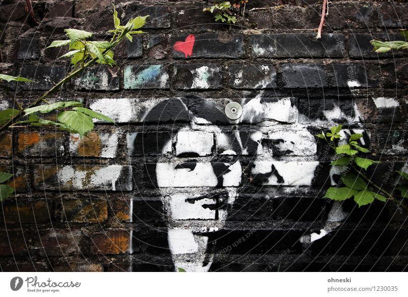 Love Mensch maskulin feminin Frau Erwachsene Mann Paar Partner Leben 2 18-30 Jahre Jugendliche Mauer Wand Zeichen Graffiti Herz Zufriedenheit Lebensfreude