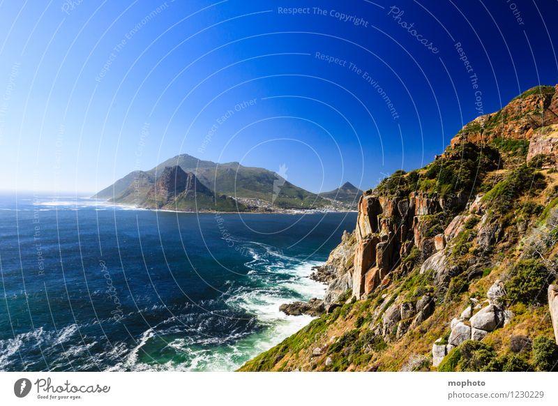 Hout Bay, Westkap Ferien & Urlaub & Reisen Tourismus Ferne Strand Meer Wellen Berge u. Gebirge Natur Landschaft Urelemente Wolkenloser Himmel Schönes Wetter