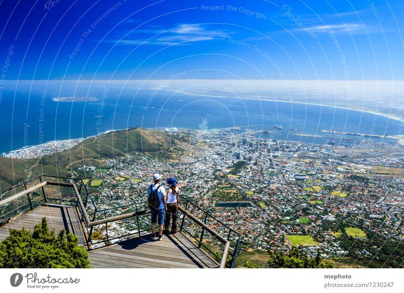 I love Capetown #2 Mensch Frau Ferien & Urlaub & Reisen Jugendliche Mann Stadt Meer Landschaft Ferne 18-30 Jahre Erwachsene Berge u. Gebirge Paar Horizont