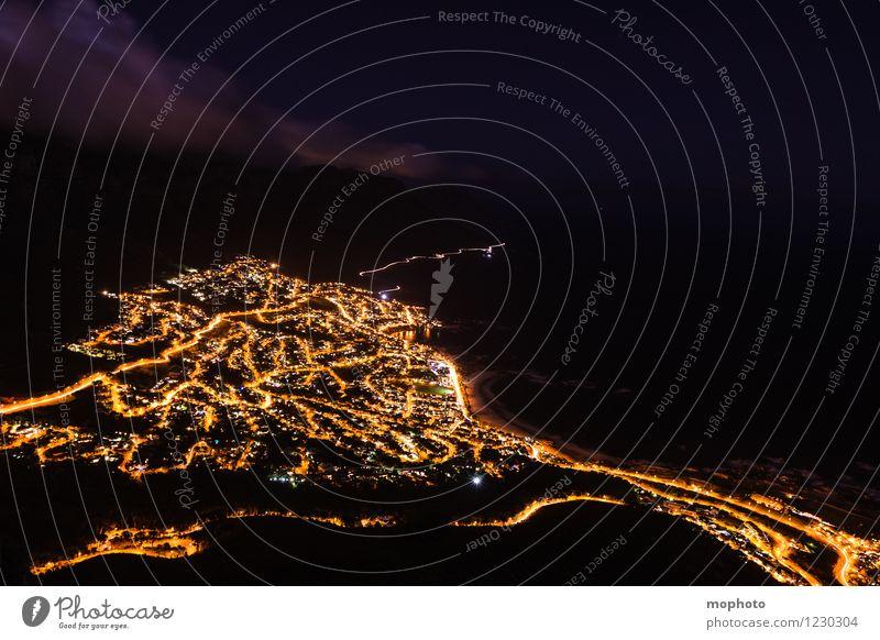 I love Capetown #4 Ferien & Urlaub & Reisen Tourismus Ferne Sightseeing Städtereise Energiewirtschaft Energiekrise Umwelt Landschaft Nachthimmel Küste Kapstadt