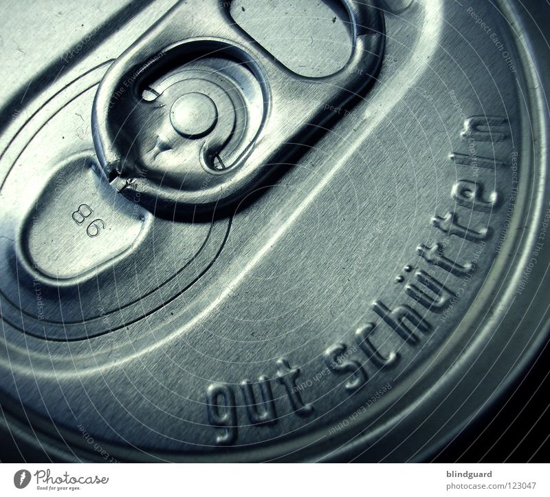 Shake It Baby Dose schütteln Aluminium rund Recycling Material wegwerfen Stanze Erfrischung Rohstoffe & Kraftstoffe Getränk sabbern geschlossen aufreißen