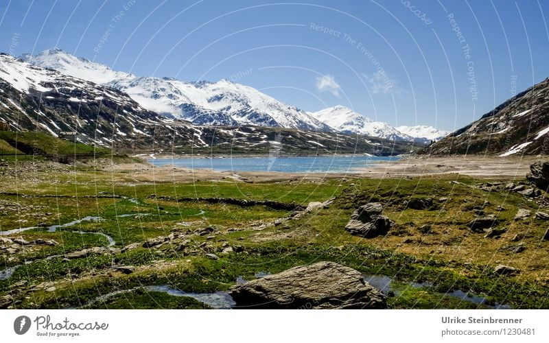 Passo dello Spluga Himmel Natur blau Pflanze grün Wasser weiß Einsamkeit Landschaft Berge u. Gebirge Umwelt Frühling Gras natürlich Felsen liegen