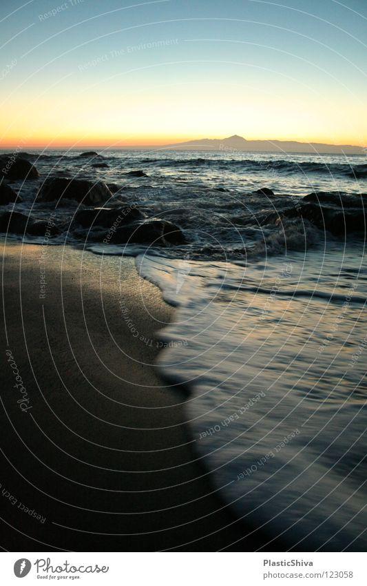 Tenerife from Gran Canarian beach Natur Sonne Meer Strand Berge u. Gebirge Küste Insel Afrika retten Teneriffa Spanien Vulcano