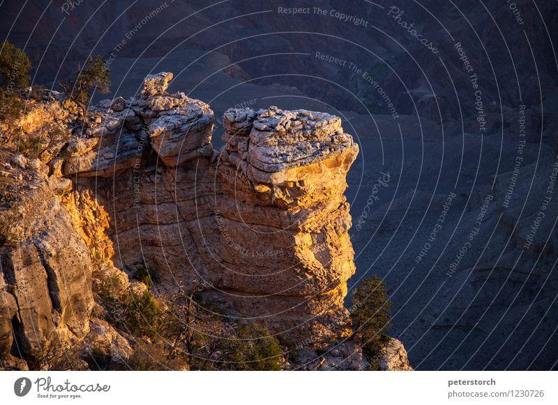 Am Abgrund Landschaft Felsen Schlucht Grand Canyon außergewöhnlich fantastisch Stimmung einzigartig erleben Farbe Perspektive Abenteuer dramatisch Farbfoto