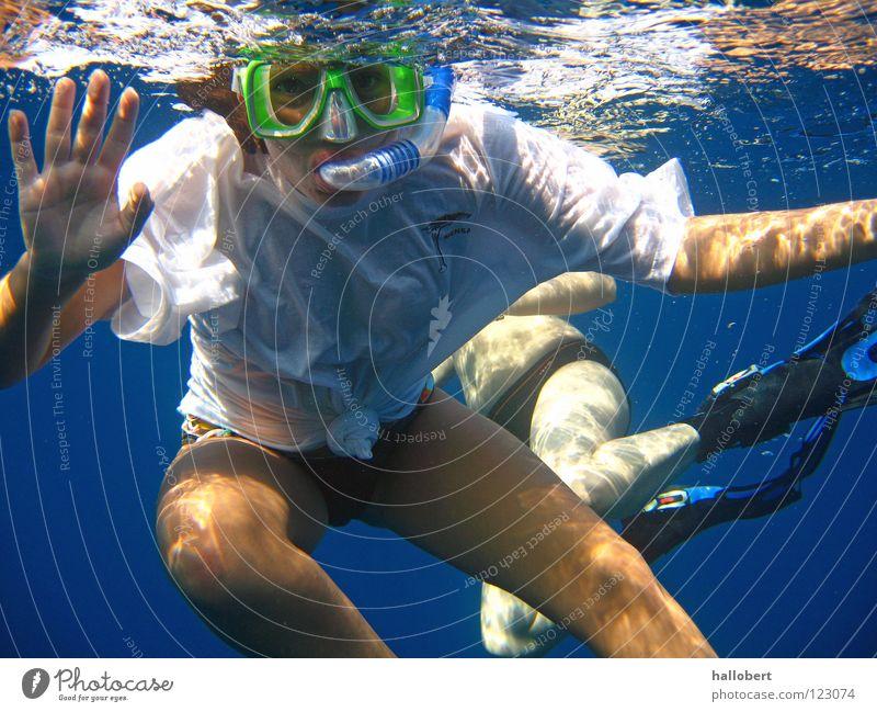 Hi Du! Wasser Meer tauchen Malediven Wassersport Unterwasseraufnahme Riff Schnorcheln