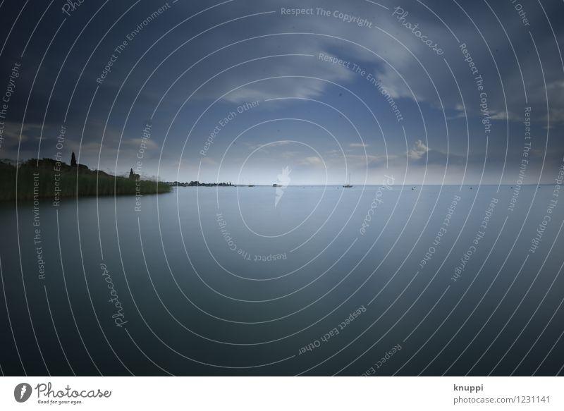 Gardasee Himmel Natur Pflanze blau Sommer Wasser weiß Sonne Landschaft Wolken schwarz Umwelt Wärme Küste See Horizont