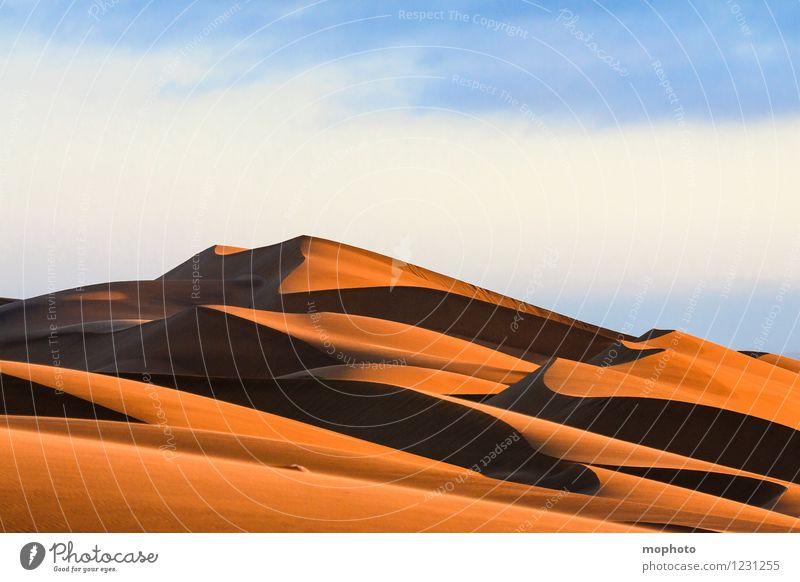 Schöne Kurven #3 Himmel Natur Ferien & Urlaub & Reisen blau Einsamkeit Landschaft Wolken Ferne Umwelt Wärme natürlich Sand orange Tourismus elegant Erde