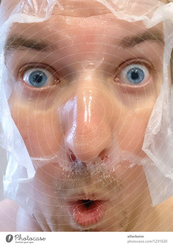 die heutige Häutung schön Körperpflege Gesicht Kosmetik Maske Wellness Leben Wohlgefühl Erholung Spa Mensch maskulin Junger Mann Jugendliche Erwachsene Kopf