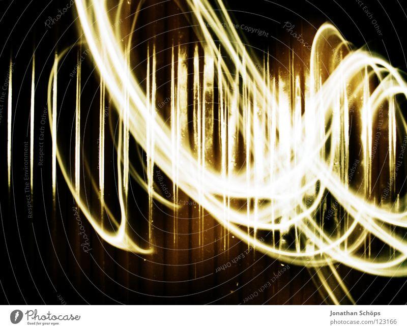 beschmier' deine heizung II Wohnung Lampe Streifen Bewegung streichen dunkel Unendlichkeit hell modern rund Geschwindigkeit braun gelb grün schwarz weiß