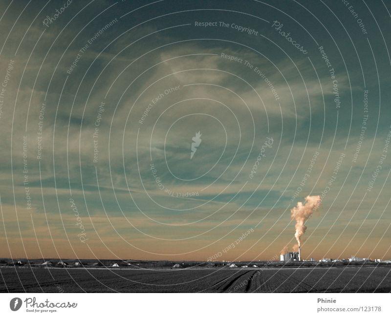 Chemie und Umwelt Abgas Feld grau rosa weiß Wasserdampf Kohlendioxid Umweltverschmutzung Leuna Elektrizität Stadt Wolken Industrie Himmel Landschaft Flughafen