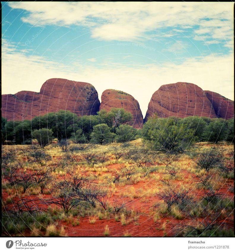 australia Himmel Natur Ferien & Urlaub & Reisen blau schön grün Sommer Baum rot Landschaft Wolken Ferne Umwelt Berge u. Gebirge Gras natürlich