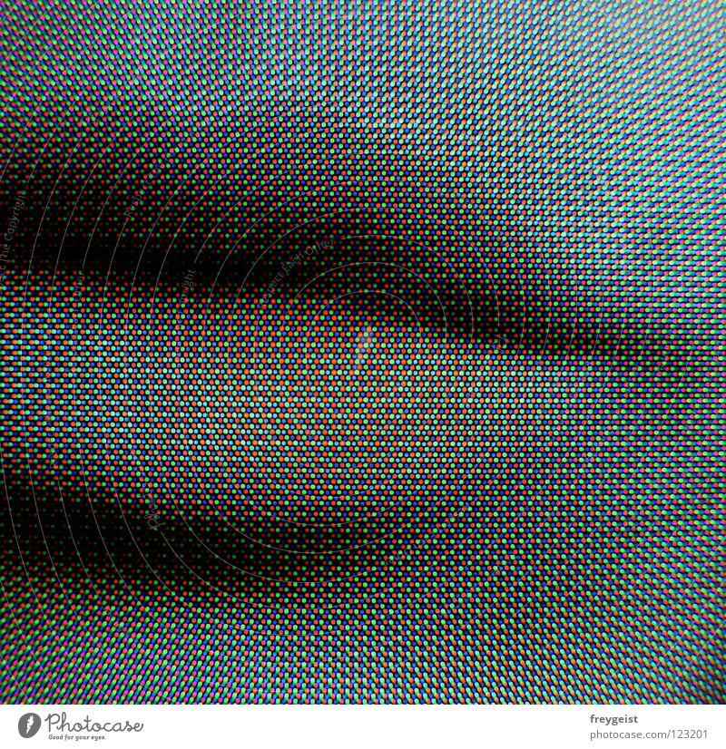 RGB Frau Gesicht Farbe Mund Erde Lippen Punkt Bildschirm Versuch Druck Digitalfotografie gestellt Druckerzeugnisse Patrone drucken RGB