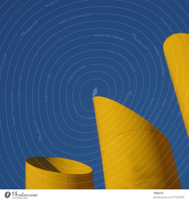 BENGALISCHER LEUCHTFISCH blau ruhig gelb Umwelt Luft Metall Lampe Wasserfahrzeug offen 3 modern groß stehen Turm Industrie