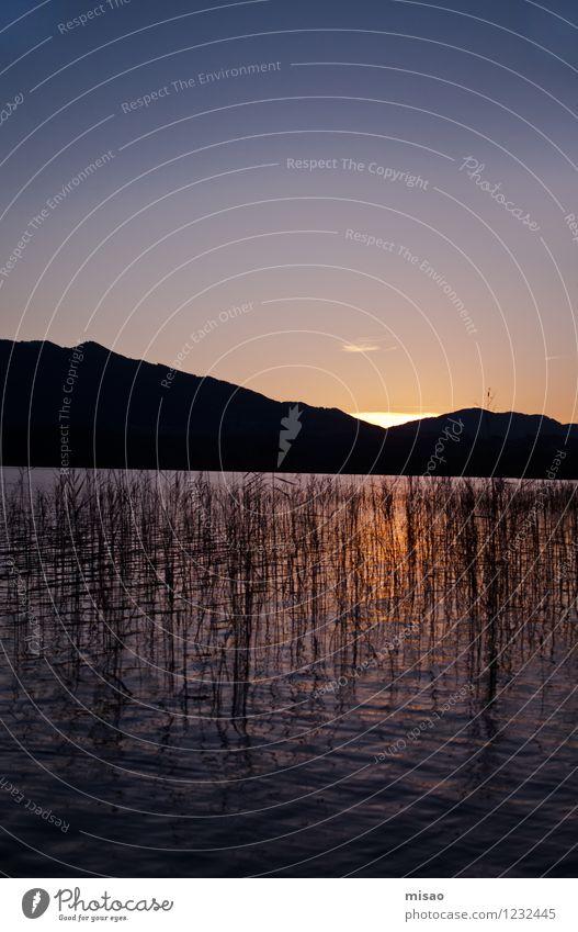Das Haus am See Wohlgefühl Sinnesorgane Erholung ruhig Meditation Schwimmen & Baden Natur Feuer Luft Wasser Wolkenloser Himmel Horizont Sonne Sonnenaufgang