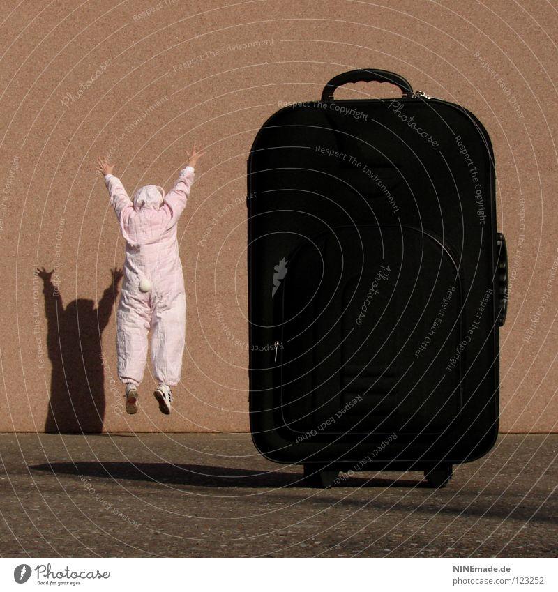 HasenMission | 2008 - freude Mensch rot Ferien & Urlaub & Reisen Freude Tier schwarz dunkel Spielen klein springen lustig Kunst orange Eis