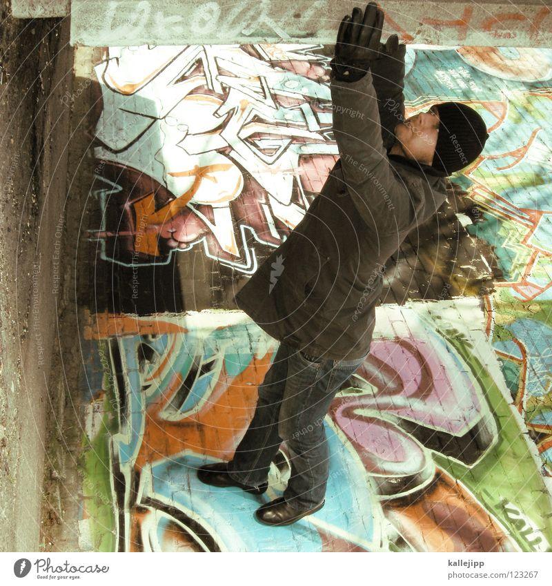 major tom Mensch Himmel Mann Hand Stadt Haus Fenster Berge u. Gebirge Graffiti Gefühle Berlin Architektur springen See Lampe Luft