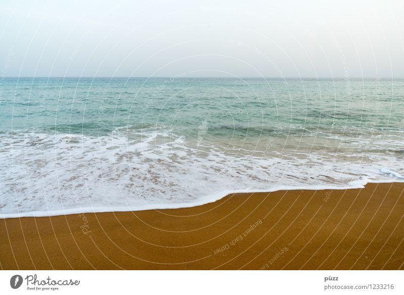 Strand Himmel Natur Ferien & Urlaub & Reisen blau Sommer Wasser Sonne Erholung Meer Ferne Umwelt Küste Freiheit Schwimmen & Baden braun