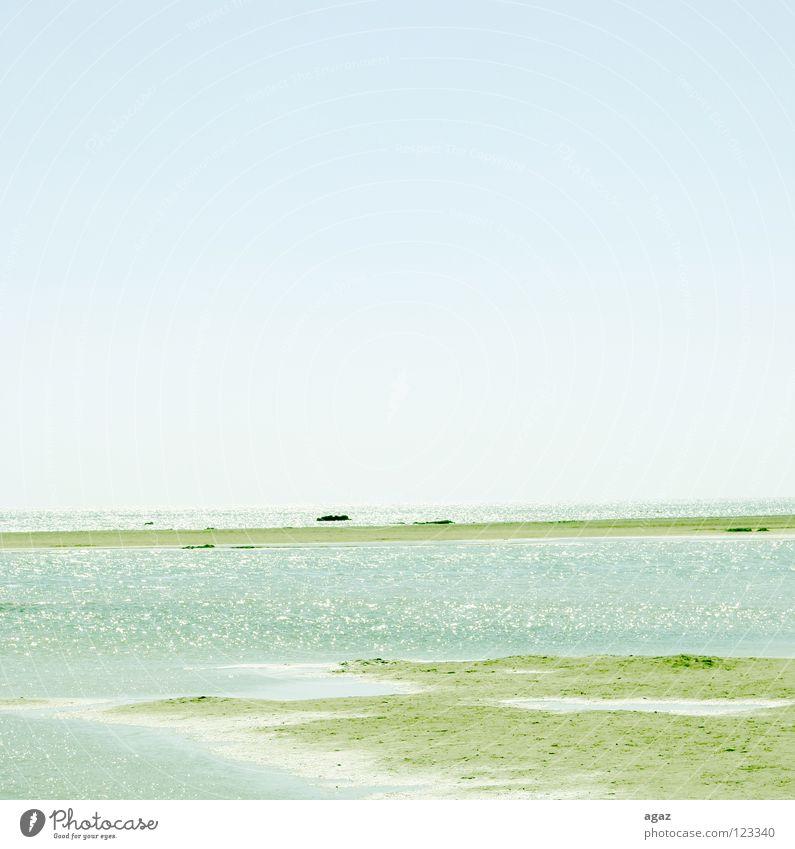 Strand II Wasser Himmel Meer blau Sommer Freude Ferien & Urlaub & Reisen Wolken See Sand Wärme nass Horizont Spaziergang