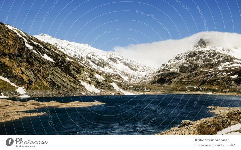 Naturbad 3 Himmel Ferien & Urlaub & Reisen blau Sommer Wasser weiß Landschaft Wolken kalt Berge u. Gebirge Umwelt Frühling natürlich Schnee See