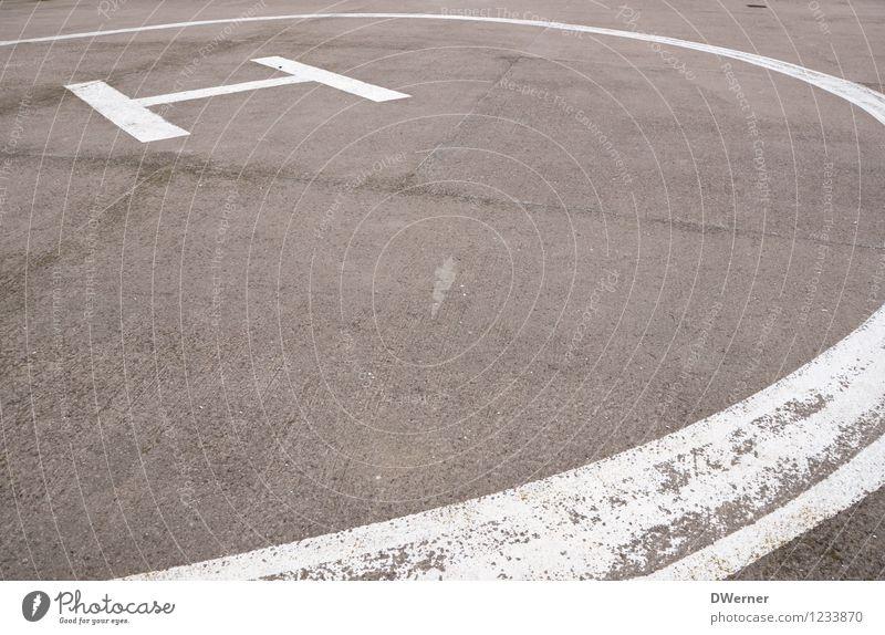 H) Platz Flughafen Luftverkehr Hubschrauber Fluggerät Flugplatz Landebahn Beton Zeichen Schriftzeichen Schilder & Markierungen Hinweisschild Warnschild