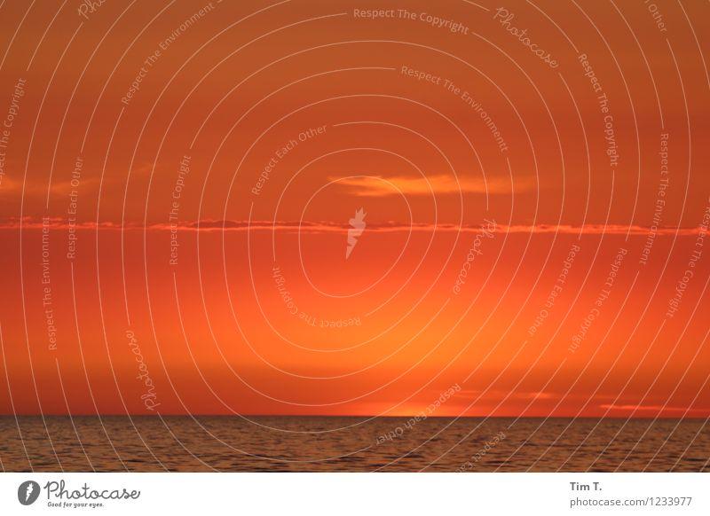 Baltic Sea Umwelt Wasser Himmel Wolken Horizont Sonnenaufgang Sonnenuntergang Sommer Wetter Schönes Wetter Wellen Ostsee Abenteuer Meer Morgendämmerung Farbfoto