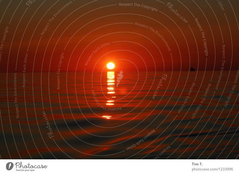 Abendrot 2 Himmel Meer Ostsee Sehnsucht Fernweh Heimweh
