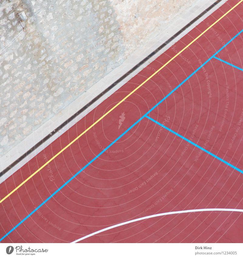 Matchbase I blau rot Freude Wand Bewegung Stil Sport Mauer Spielen grau Linie Freizeit & Hobby Design Perspektive ästhetisch Grafik u. Illustration