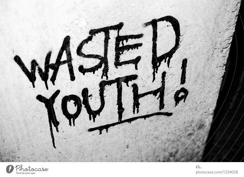 wasted youth Jugendkultur Subkultur Mauer Wand Stein Schriftzeichen Graffiti authentisch dreckig Wut Frustration Aggression Enttäuschung Langeweile Zerstörung