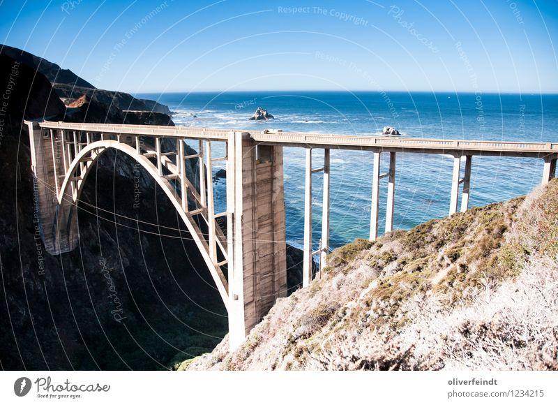 Kalifornien I Himmel Natur Sommer Wasser Meer Landschaft Ferne Strand Umwelt Straße Küste Freiheit Felsen Horizont Freizeit & Hobby Wellen