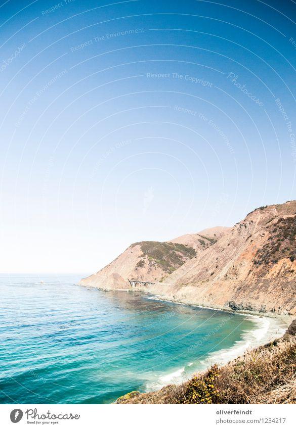 Kalifornien III Ausflug Abenteuer Ferne Freiheit Sommer Sommerurlaub Strand Meer Wellen Umwelt Natur Landschaft Himmel Wolkenloser Himmel Horizont Wetter