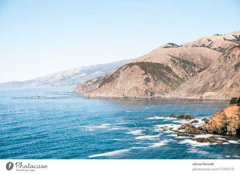 Kalifornien II Ausflug Abenteuer Ferne Freiheit Sommer Sommerurlaub Strand Meer Wellen Umwelt Natur Landschaft Wasser Himmel Wolkenloser Himmel Schönes Wetter